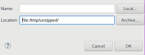 Eclipse - Add a local archive as software repository