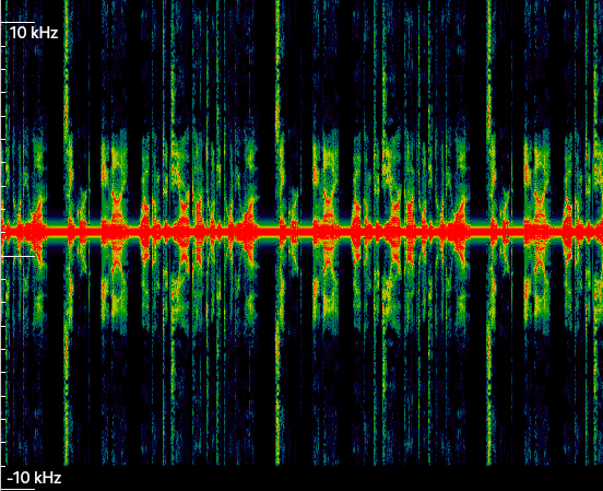Waterfall of Signal 2 on Inspectrum